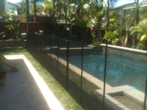 Orange County mesh pool fence
